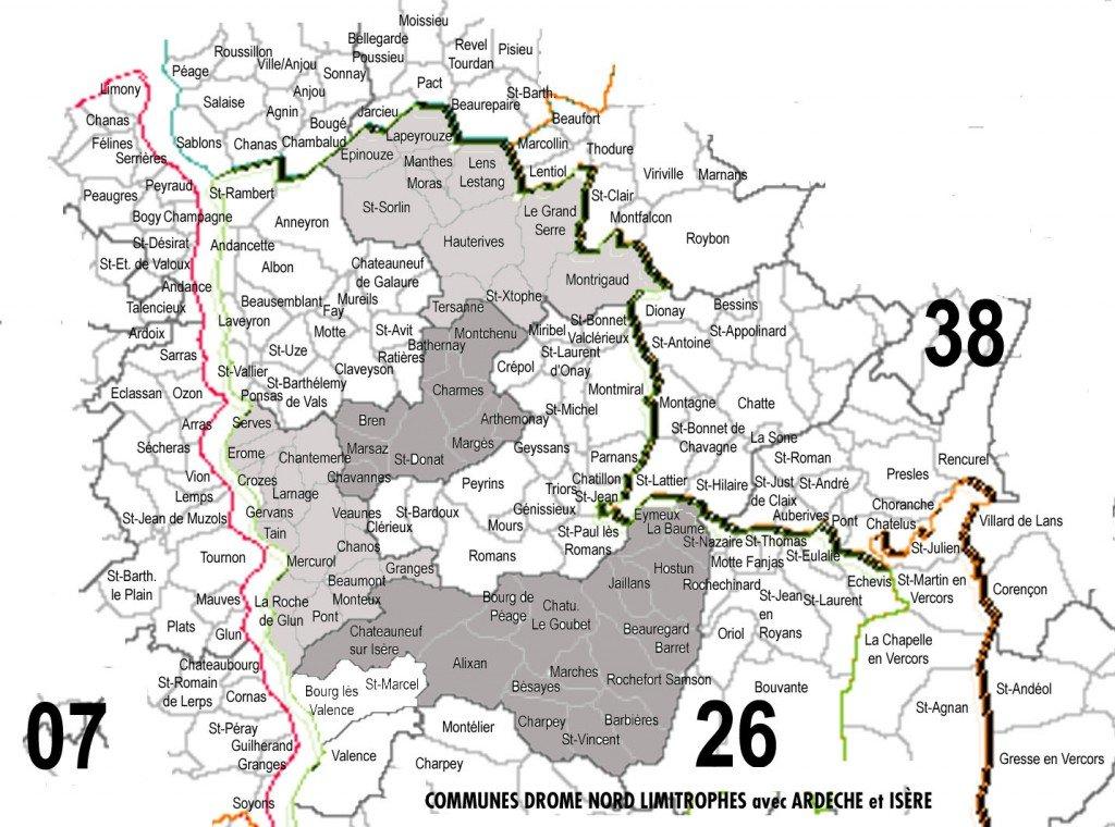 localisation des communes de la Drôme des Collines carte-drome-collines